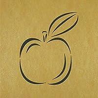 ステンシルシート リンゴ 3サイズ型紙 (20cm)