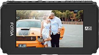 Irfora A50TL 5 Inch FHD IPS Video On-Camera Field Monitor 3D LUT 1920 * 1080 Touchscreen 510cd/m2 HDMI 4K Input/Output Dua...