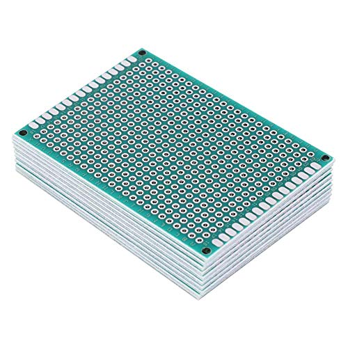 Juego de 10 placas de circuito impreso de 5 x 7 cm, de doble cara, galvanizadas, universales, tipo prototipos