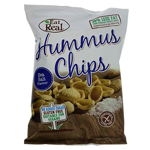 Eat Real | Humus Sea Salt Chips | 10 x 135g