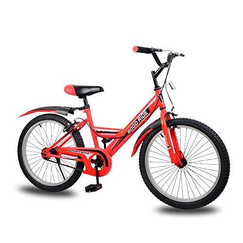 Domrx Processo di Saldatura ad Arco ad Argon a velocità Singola per Bicicletta per Bambini per Bambini di età Compresa tra 8-12-Red_43cm (