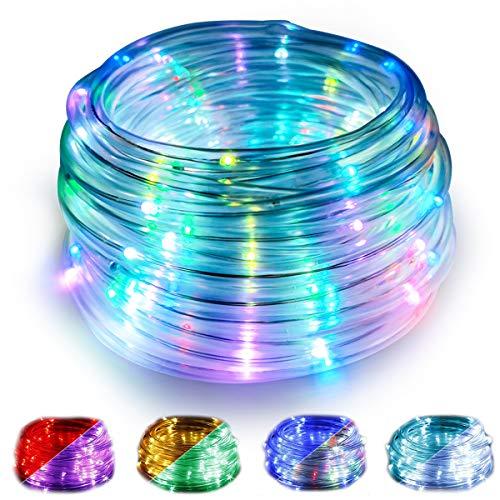 WOWDSGN USB Lichterschlauch mit Fernbedienung,10M 100 LED Lichtschlauch,16 Farben und 4 Leuchtmodi,IP68 Wasserdicht,50er Befestigungsclips, Ideal für Weihnachten, Deko, Party, Feier, Hochzeit