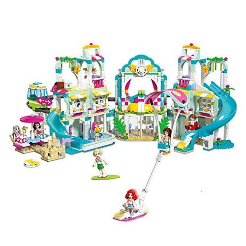 LHTY Kinder Architektur Simulation Lernspielzeug Set, Ferienvilla Zusammengesetzt Stapeln Lernspielzeug, Intelligenz Aktivität Spielzeug für 6 Jahre alt