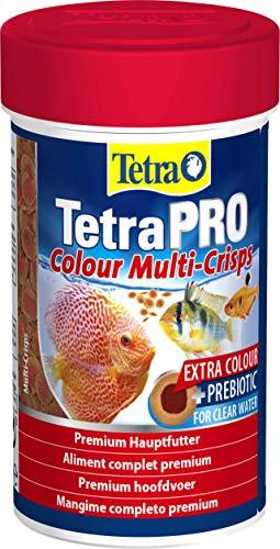 Tetra Pro Colour Multi Crisps Aliment complet premium - Nourriture de qualité supérieure pour poisson d'ornement tropical, Boîte de 100 ml
