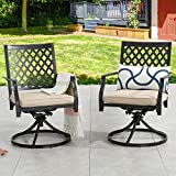 Patio Festival Swivel Patio Chairs Dining Chair Metal Frame Bistro Set Outdoor Furniture for Garden Backyard Club Set of 2