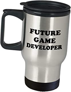 Future Aspiring Game Developer Video Designer Funny Cute Gag Gifts - Development Gaming Design Dev Team Appreciation Gift Idea Coffee Tumbler Insulated Travel Mug