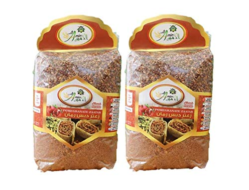 Al Amin Thyme Pomegranate Zaatar Homemade Premium Quality - 400gm/14oz Pack of 2 - زعتر بدبس الرمان الأمين