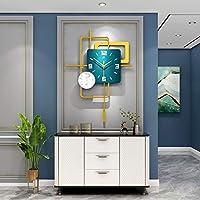 モダンミニマリスト時計壁時計ランプハイエンドリビングルーム時計壁掛けクリエイティブパーソナリティアートファッション北欧装飾壁時計