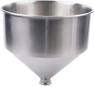 Futchoy Entonnoir en acier inoxydable - 30 L/40 L/50 L - Entonnoir à confiture commercial - Pour le transfert de liquide, ...