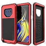PunkCase Galaxy Note 9 Metall-Schutzhülle, strapazierfähig, Militärqualität, robust, stoßfest, Hybrid-Schutzhülle aus hartem Aluminium und TPU, rutschfest, für Samsung Galaxy Note 9, rot