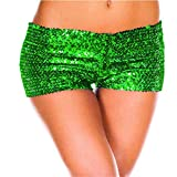 no brand Sexy Women Mini Shorts Glitter Sequin Stretchy Costume Dance Party Club Shorts Summer