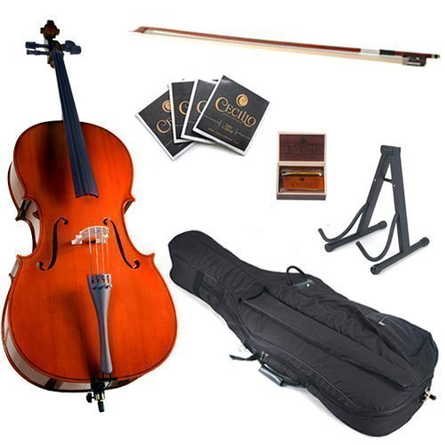 Cecilio 4/4 CCO-100 Student Cello Outfit in Natural Varnish (Full Size)