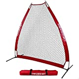 PowerNet German Marquez 7 Foot Portable Pitching Screen A-Frame (Red) | Baseball...