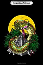 Composition Notebook: Quetzalcoatl Aztec God Feathered Serpent Mayan Pyramids Journal/Notebook Blank Lined Ruled 6x9 100 Pages