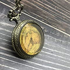 ERDING Pocket Watches,Anniversary Day,Pocket Watch Unisex Vintage Roman Numerals Display Quartz Watch Clock With Chain Antique Pendant Necklace Gifts #2