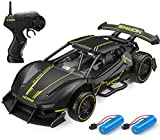Remote Control Car Dodoeleph 2.4GHz Alloy 1/24 RC Drift Cars, 15KM/H High Speed Sport Racing Cars with 2 Rechargeable Batteries, Fast Electric Vehicle Hobby Toy Xmas Gift for Boys Girls Kids