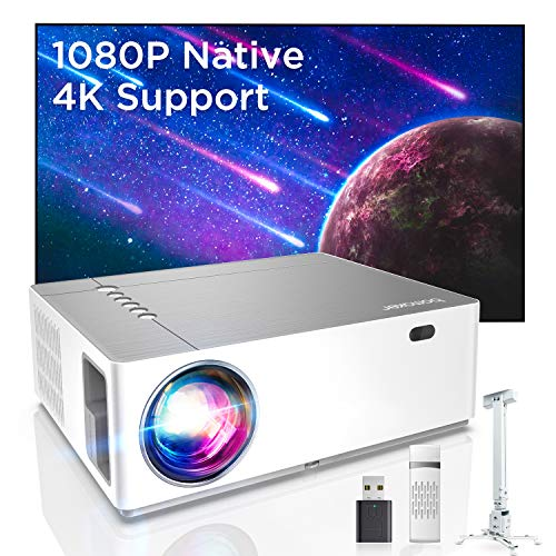 Bomaker Full HD 1080P Nativo Proyector con 7200 Brillo, Soporta...