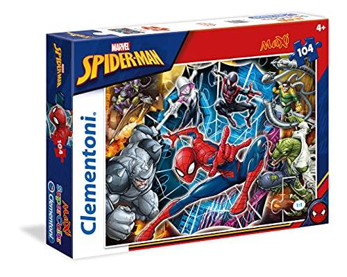 Clementoni- Spiderman Spider-Man Supercolor Puzzle, No Color, 104 Pezzi, 23716