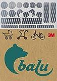 3M Reflektoren Aufkleber - Reflex Sticker Set 19-teilig für Kinderwagen, Buggy, Laufrad