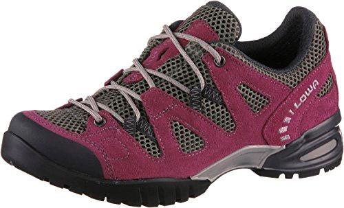 Lowa Damen Trekking Schuhe, Phoenix Mesh Low, bordeaux