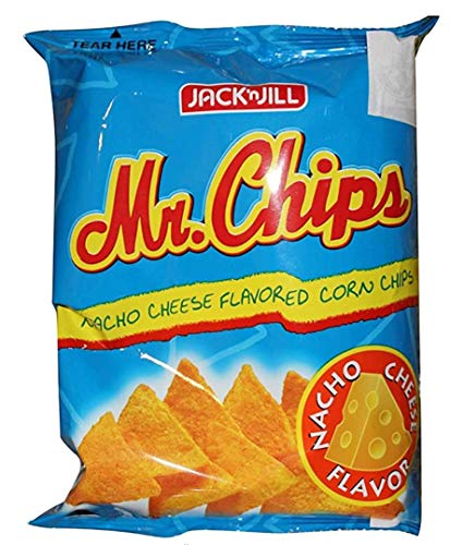 Jack n Jill Mr. Chips Nacho Cheese Flavored Corn Chips 3.53 oz x 4