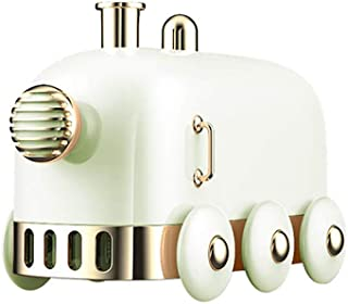 Air Humidifier, 300ML Cute Train Mute Aromatherapy Essential Oil Diffuser Home Office Fog Sprayer JISHIYU (Color : Green)