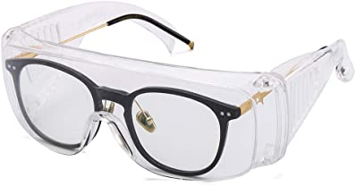 ORSEN Lot de 2 Paires de Lunettes de Protection Anti-bu/ée Transparent