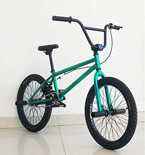 AISHFP Bicicleta BMX, Bicicleta de Carrera BMX de Nivel Principiante a avanzado, Cuadro de Acero Ligero de Alto Carbono, llanta de aleación de Aluminio de Doble Capa Ruedas de 16-20 Pulgadas
