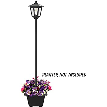 "67"" Solar Lamp Post Lights Outdoor, Solar Powered Vintage Street Lights for Lawn, Pathway, Driveway, Front/Back Door, Planter Not Included"