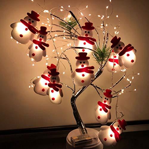 Led Strip Weihnachten Schneemann String Lichter, 10 LED Weihnachten Schneemann Lichterkette Strings Weihnachtsbaum Weihnachtsfeier Dekoration Laterne