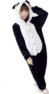 c392904a0ec48 Costume de carnaval, Halloween ou pyjama unisexe, combinaison d'animal noir  panda Small