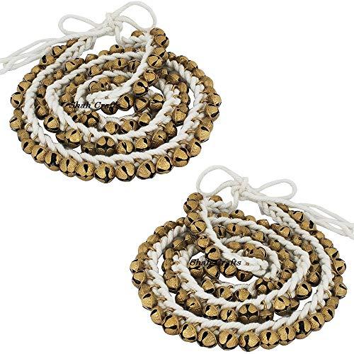 Shah Crafts - Par de pulseras de tobillo para bailarines clásicos, 100 + 100 campanas, peso pesado, 1200 g, para bailarines profesionales