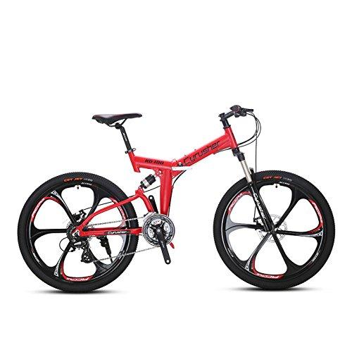 Extrbici Vélo Tout Terrein 26' RD100 VTT Pliant avec Suspenion Complète & 24 Vitesses Vélo de...