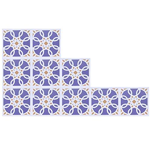 Pasta de pared de baldosas de cerámica, resistente al color 10PCS Hermosa etiqueta adhesiva impermeable para baldosas delicada para comedor(4)