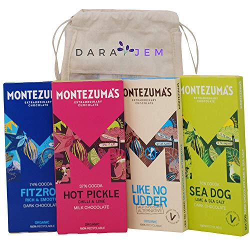 Montezuma's Dark Chocolate 4 x 90g Mixed Bag Selection |Vegan|Gluten-Free|Organic| New Flavours