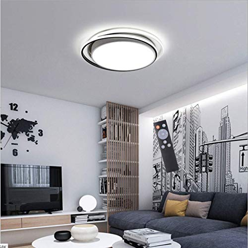 Living Equipment LED28W / 36W Ceiling Lamp Ultra Thin Round Chandelier Lights Iron Acrylic Material Pendant Lighting Stepless Dimming Simple Three Color Darkening Contemporary Pendant Light Fixture