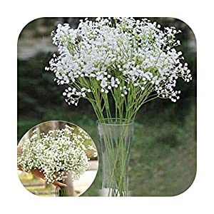 PrettyR Artificial Plant Artificial Gypsophila Flower Fake Silk Wedding Party Bouquet Home Decor Garland Home Decor Artificial Flowers