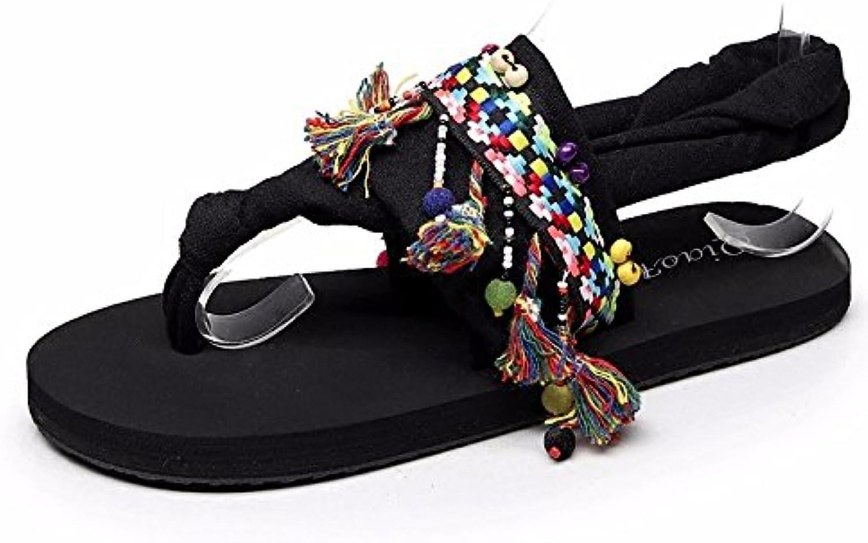 BTBTAV Flip Flops Female Summer Rome Beach Sandals National Cool Slippers UK 5.5 Camo