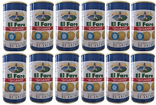 Aceitunas rellenas gigantes 150g. El Faro. [PACK 12 UNIDADES]
