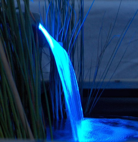 Ubbink Niagara Wasserfall Set - BLAUE Leuchteinheit 2014 (LED Set 60 cm)