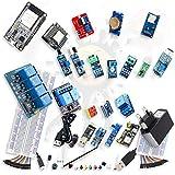 Androegg ESP IoT MB102 - Set de Principiante (más de 300 Piezas, ESP32, ESP8266, ESP12F, sensores, USB, convertidor TTL, módulo Adaptador)