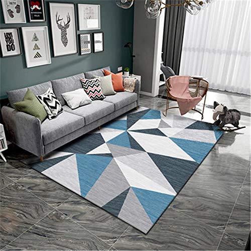 WQ-BBB Alfonbras Suave Pelo Corto Alfombraes alfombras Dormitorio Moderno Comedor Alfombras Costuras geométricas Gris Azul Negro Beige jarapas 160X230cm