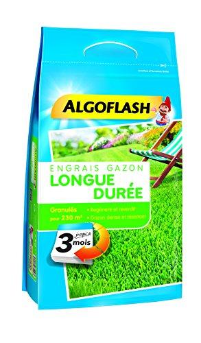 ALGOFLASH Engrais Gazon Longue Durée 3 Mois, 5.75 kg, EG3M230
