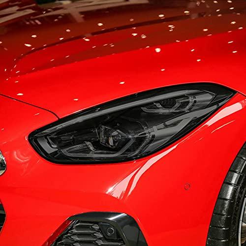 JHSOP Car Headlight Protective Film Taillight Smoked Black Tint Wrap Vinyl Transparent TPU Sticker, for BMW Z4 G29 2019 2020 2021