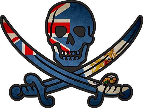 Akachafactory Sticker Aufkleber Pirat Piraten Jack Rackham Calico Flagge Fahne HK Hong Kong r2