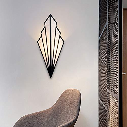Alvyu wandlamp, modern Scandinavisch creatieve design vorm van het gebied wandlamp, binnendecoratie van het huis E14, bedlampje, linnen + metaal, voor slaapkamer, hal, woonkamer, keuken en koffie