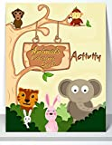 Animals Coloring Book Activity: Learn As You Play With, Fun Animals Coloring Book for Kids & Toddlers, Children Activity Books for Kids Ages 2-4, 4-8, ... Early Learning, Farm Animals Coloring Book