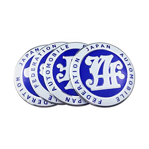 ZKL shop Neumáticos de Estilo automático JDM Emblema Coche Centro de Ruedas Cubierta de la Tapa Pegatina para Toyota Corolla Hyundai Honda Mitsubishi Volkswagen Polo Tapacubos (Color Name : Blue)