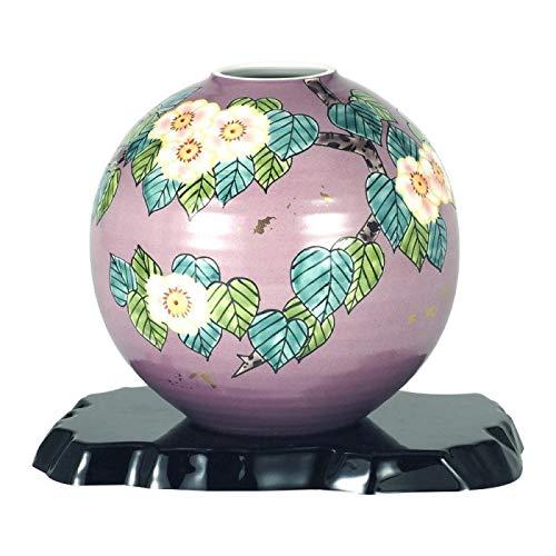 美しい九谷焼の花生け。 九谷焼 6号花瓶 花水木 N166-10 〈簡易梱包