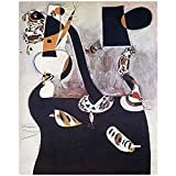 Shmjql Pintor Surrealista De España Joan Miro Lienzo Cartel Pared Arte Impresión Pintura Cuadro Decorativo para El Hogar-50X70Cmx1 Sin Marco